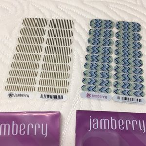 Jamberry gold stripe everything nice nail wraps